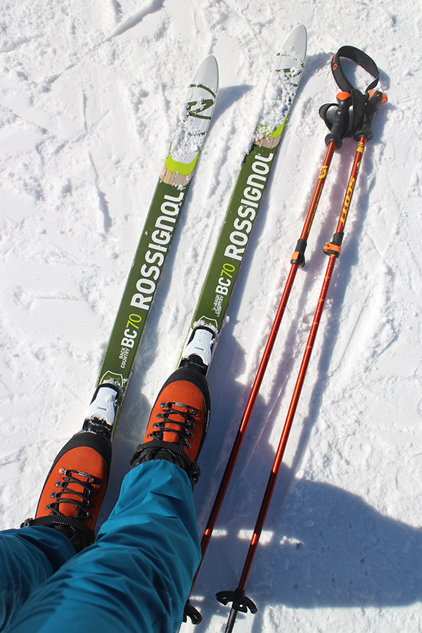 Rossignol BC70 Positrack, Scott Pole Cascade 2 part